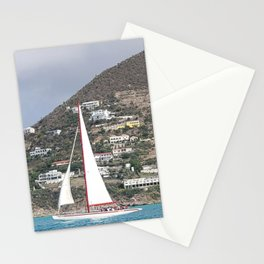 Sailing Away in Sint Maarten Stationery Cards
