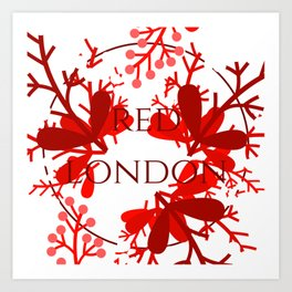 Red London Art Print