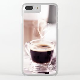 Coffee with heart Clear iPhone Case