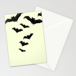MYRIAD BLACK FLYING BATS DESIGN Stationery Cards
