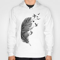 fly Hoodies featuring Fly Away by Rachel Caldwell