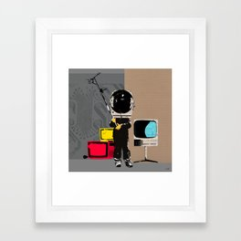 Check your head out - Collage Framed Art Print