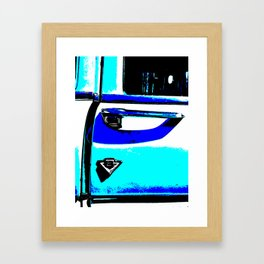 Chrome door handle Framed Art Print