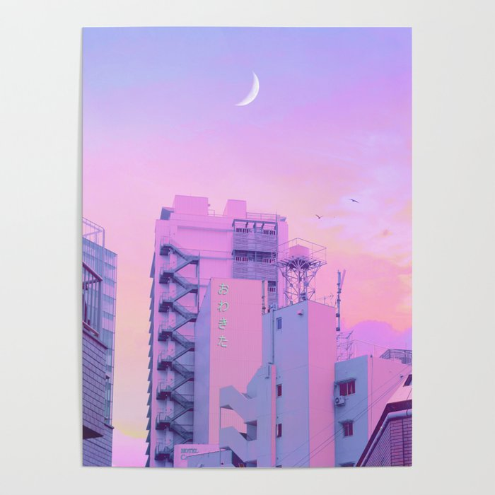 Shibuya Morning Crescent Poster