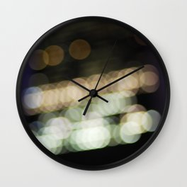 NYC Bokeh Wall Clock