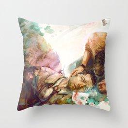 Dean + Cas Throw Pillow
