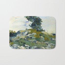 The Rocks by Vincent van Gogh Bath Mat