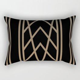 BLACK&GOLD 2 (abstract artdeco geometric) Rectangular Pillow