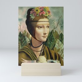 Frida Kahlo's Self Portrait & Leonardo's Lady with a Ermine Mini Art Print