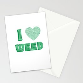 Weed Lover pot stoner Cannabis gift Stationery Cards