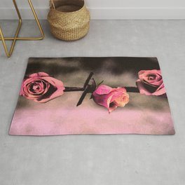 Barbed Wire Roses (Love) Rug