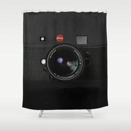 Vintage Black Camera Shower Curtain