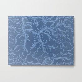 Ferning - Blue Metal Print