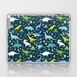 Kawaii Dinosaurs in Blue + Green Laptop & iPad Skin