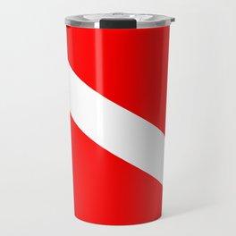 Diver Down Flag Travel Mug