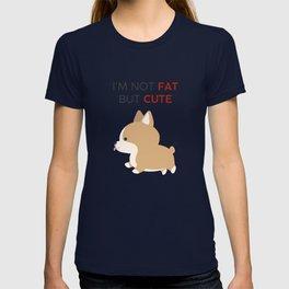 Not fat but cute corgi T-shirt