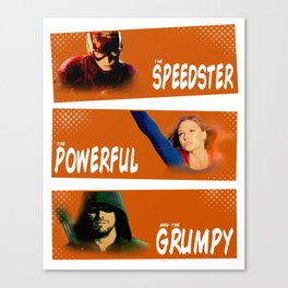 The Speedster, the Powerful, and the Grumpy Canvas Print