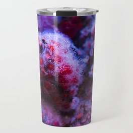 Under the Sea Blooming Magenta Coral Reef Sea anemone Underwater Photography Colored Lustre Print Travel Mug