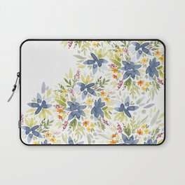 Blue Watercolor Florals Laptop Sleeve