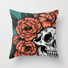 Crowned in Peonies Throw Pillow