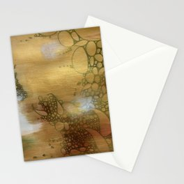 Golden Apple: Gold and White Abstract Collage Stationery Cards