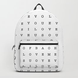 LOVE word search Backpack