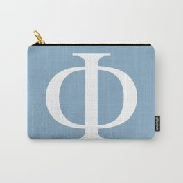 Greek letter Phi sign on placid blue background Carry-All Pouch