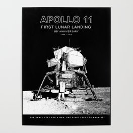 Apollo 11-50th Anniversary,Logo,Lunar Landing,Moon.Space 2 Poster