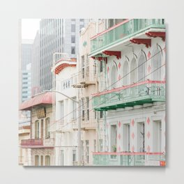 Pastel in Chinatown - San Francisco Photography Metal Print