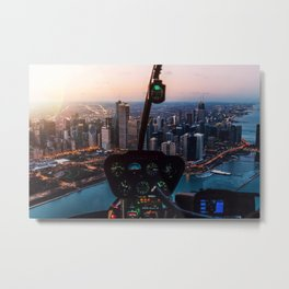 Chopping Over Chicago City Metal Print