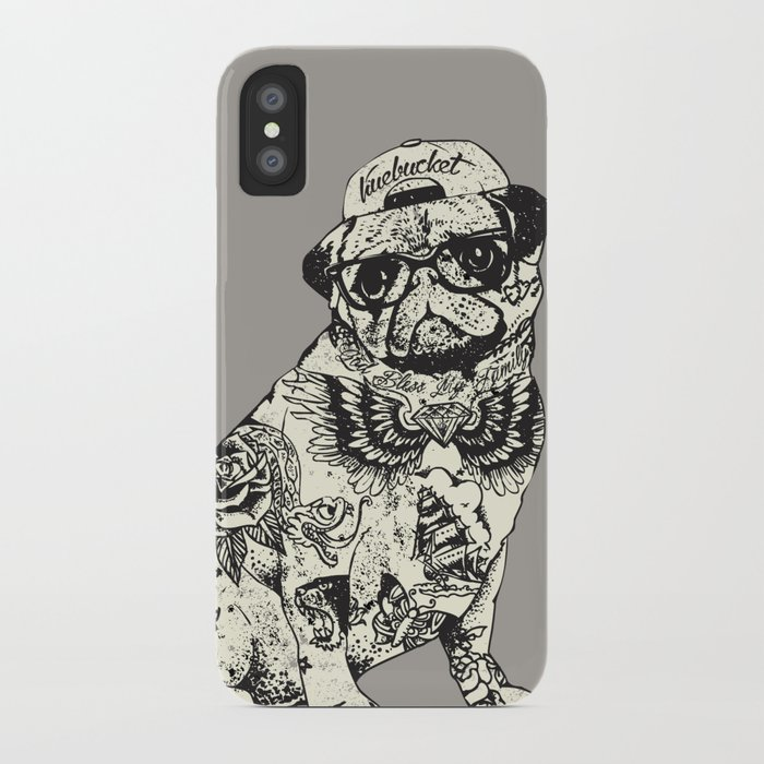 Pug tattoo iphone case by huebucket society6 for Tattoo artist iphone cases