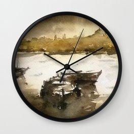 Istanbul in yellow Wall Clock