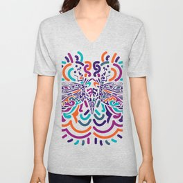 Colorful Fly Unisex V-Neck