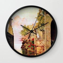 1920 Romantic Lenno Lake Como Wall Clock