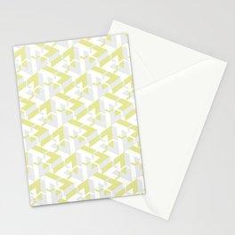 Triangle Optical Illusion Lemon Light Stationery Cards