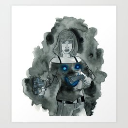 Guns to a Knife Fight Art Print