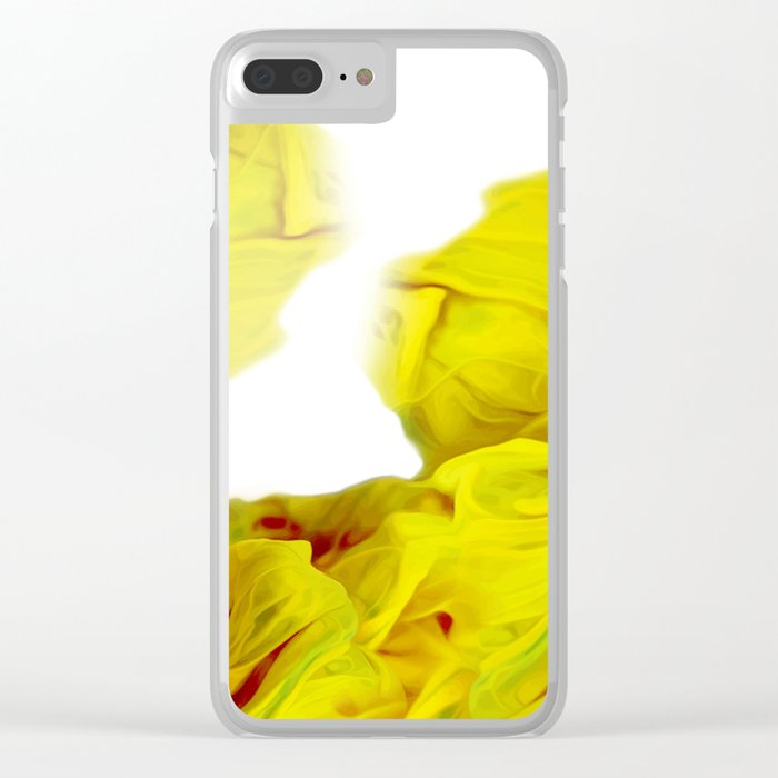 Yellow Ink Clear iPhone Case
