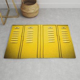 Yellow Lockers Rug