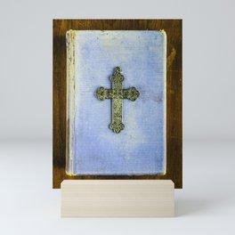 Blue Crucifix Mini Art Print