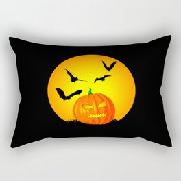 Halloween Moon Jack-O-Lantern Rectangular Pillow