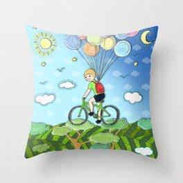 Adventure boY Throw Pillow