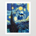 Tardis Doctor Who Starry Night by toreto