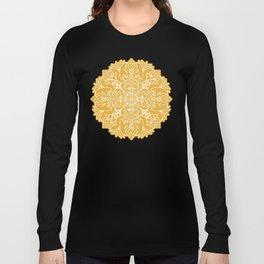Lotus Mandala - Sunny Yellow Long Sleeve T-shirt