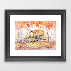My Garden in Autumn Framed Art Print