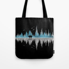 The Sounds Of Nature - Music Sound Wave Tote Bag