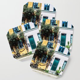 Danish Building Facades in Colourful Sunny Copenhagen Coaster
