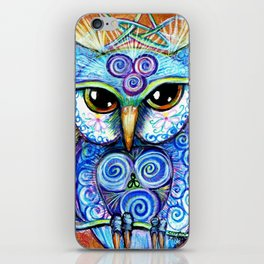 Spirit Owl, original illustration from Spirit Owl Series by Artist Sheridon Rayment iPhone Skin