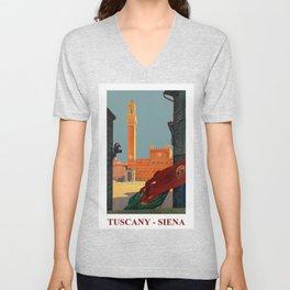 Tuscany - Siena Italy - Vintage Travel Unisex V-Neck