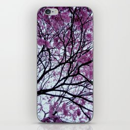 Exotic pink - tropical trees iPhone Skin
