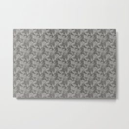 Abstract Geometrical Triangle Patterns 2 Benjamin Moore 2019 Trending Color Kendall Charcoal Gray HC Metal Print